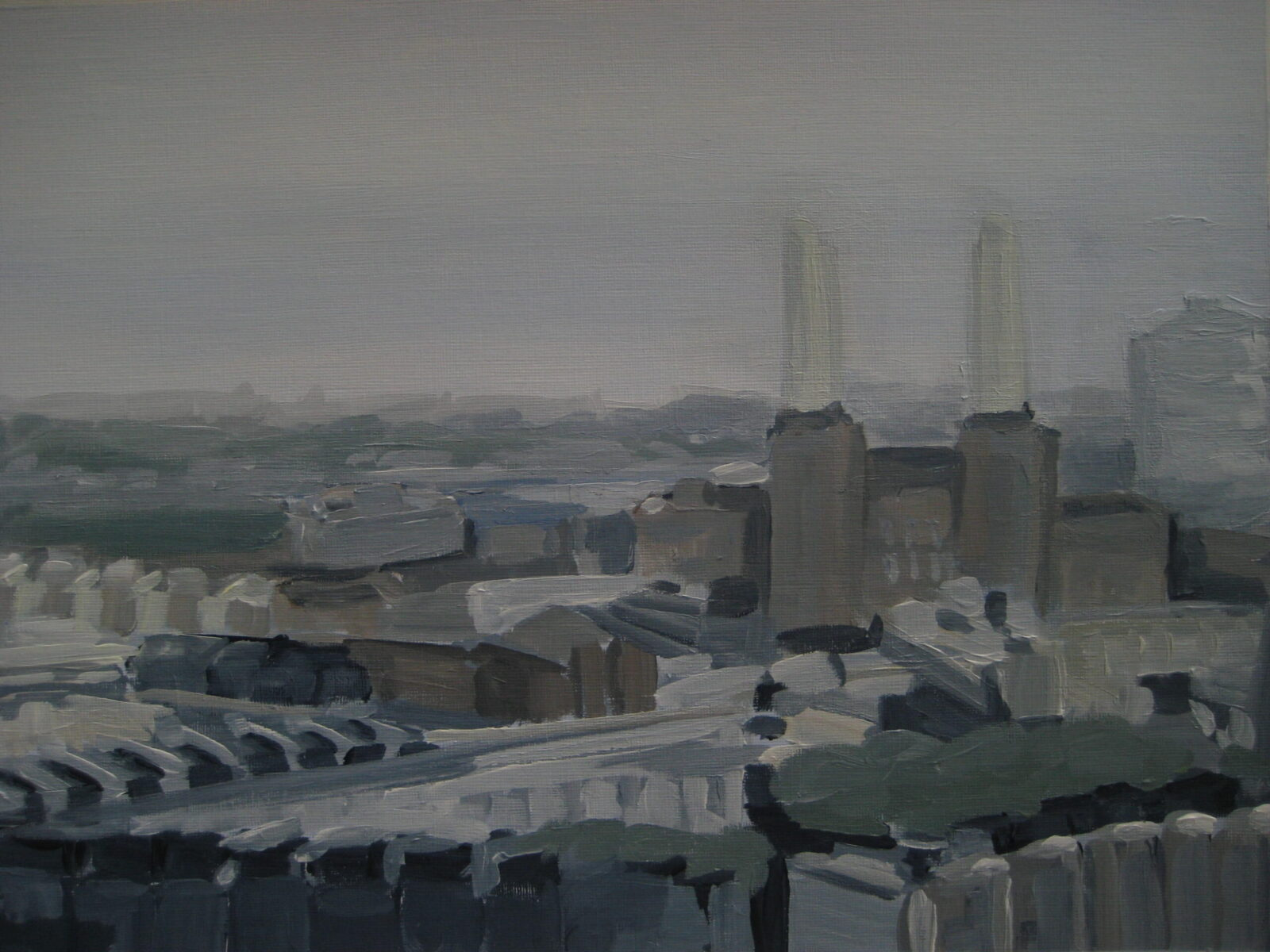 View from Westminster of Battersea Power Station 2014