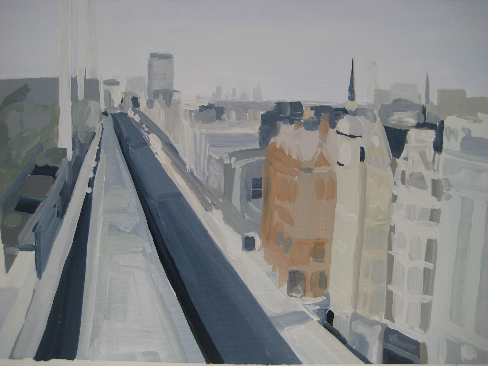 Oxford Street from the John Lewis Summer Rooftop 2015
